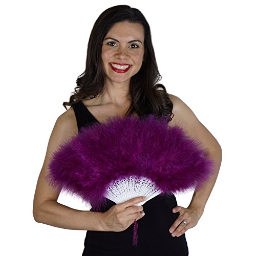 Zucker Feather - Marabou Fan - Purple