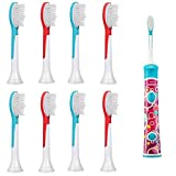 #3: iHealthia 8-pack Philips Sonicare for Kids Standard Replacement Toothbrush Heads HX6042, Ages 7+