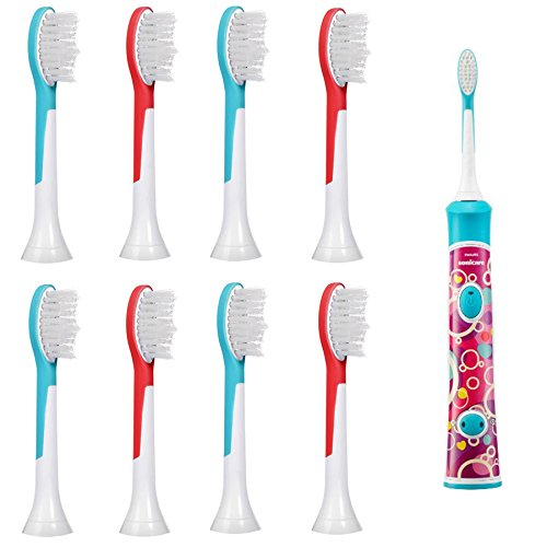 iHealthia 8-pack Philips Sonicare for Kids Standard Replacement Toothbrush Heads HX6042, Ages 7+