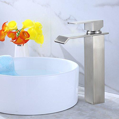 Gyps Faucet Waschtisch-Einhebelmischer Waschtischarmatur Badarmatur 304 Edelstahl Bad Armatur Wasserfall Wasserfall Wasserfall Waschtischmischer,Mischbatterie Waschbecken 4d386c