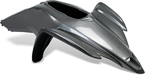 Maier USA One-Piece Race Front with Scoops for Yamaha YFZ450 - Black Carbon Fiber - 18996-30