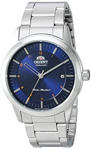 Orient Men s Sentinel Japanese-Automatic Watch with Stainless-Steel Strap, Silver, 22 Model FAC05002D0