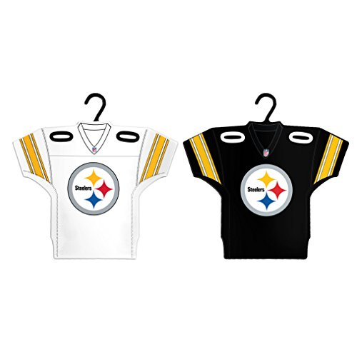 Boelter Brands NFL Pittsburgh Steelers Home & Away Jersey Ornament, 2-Pack
