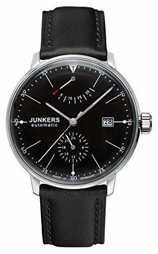 Junkers Bauhaus Automatic Watch with Power Reserve and 24hr Subdial...