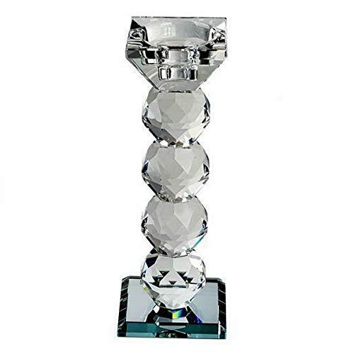 Mikash 7トールクリアガラスクリスタルキャンドルホルダー ウェディングパーティーデコレーション モデルWDDNGDCRTN 13260 4 pieces ホワイト childweddingdecoration-14481 4 pieces  B07RG7P5GC