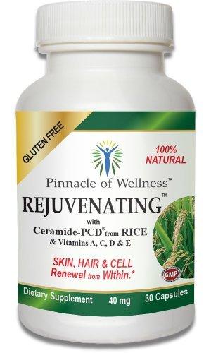 Summum du bien-être régénérante Phytoceramides, peau, cheveux et Capsules de renouvellement cellulaire pour les femmes et les hommes (40 Mg. 30 Capsules)