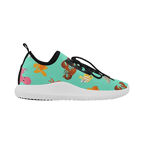 Women Turtle Light Gold Shoes butterfly for beautiful Squid and Ultra on Dolphin jeans Fish InterestPrint Running Octopus aqvYBwpx