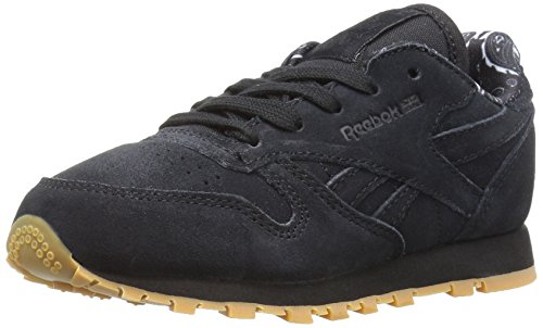 Image of Reebok Kids' Classic Leather TDC Sneaker, Black/White, 10 M US Toddler