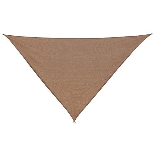 California Sun Shade Coolaroo Shade Sail Triangle 12-Foot Walnut by California Sun Shade