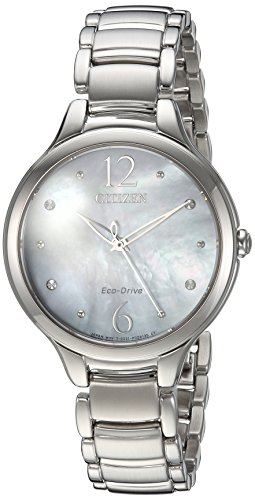 Citizen Women's 'Eco-Drive' Quartz Stainless Steel Casual Watch, Color:Silver-Toned (Model: EM0550-59D)