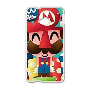 HTC One M7 phone cases White Super Mario Bros cell phone cases Beautiful gifts UREN2405281