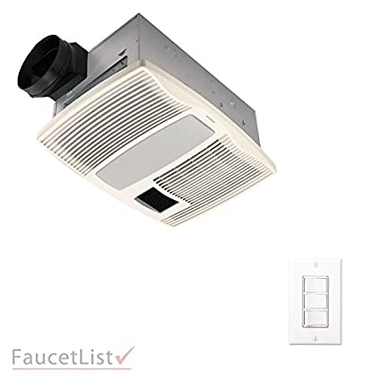 Broan QTX110HFLT Quiet Bathroom Ceiling Ventilation Exhaust Fan With Light  And Heater INCLUDES 3 Switch 4