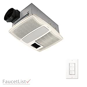 bathroom vent fan with light and heater broan qtx110hflt bathroom ceiling ventilation 25949