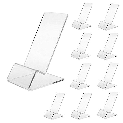 Display Cell Phone - haod Transparent Display Stand for Cellphone, Middle Size, 10 pcs a Set