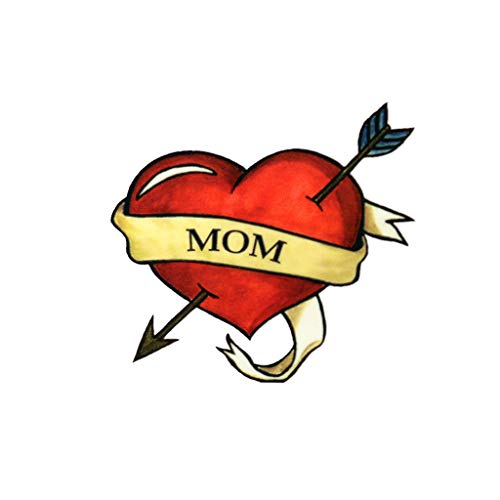 Mom Heart Temporary Tattoos (3-Pack) | Skin Safe | MADE IN THE USA| Removable
