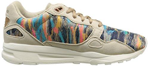 Le Coq Sportif Lcs R900 W Cloud Jacquard Damen Sneaker Beige - Beige (Gray Morn)