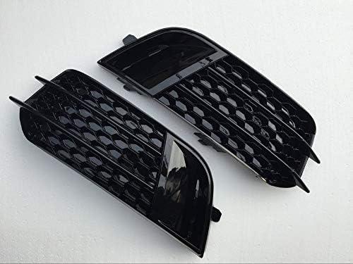 RS1スタイルブラックフロントフォグランプグリルカバートリムフィット感のためのアウディA1非SLINE 2010年から2015年フォグライトグリル