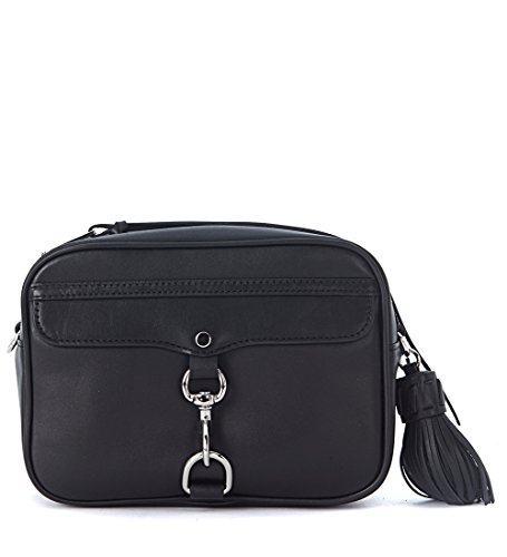 Borsa a tracolla Rebecca Minkoff Large M.A.B. Camera Bag in pelle nera