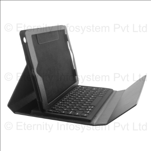 Full QWERTY Wireless Bluetooth Keyboard Cover Case Stand for Apple iPad 2/3/4 + DMG Wristband