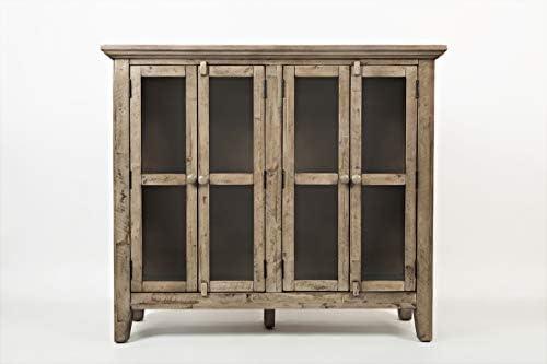 Jofran , Rustic Shores, Accent Cabinet, 48 W X 15 D X 42 H, Vintage Grey Finish, Set of 1