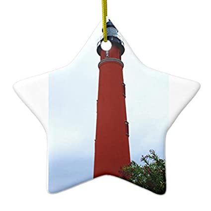 vintage christmas decorations ponce de leon inlet lighthouse star ornaments for xmas tree hanging - Christmas Lighthouse Decorations