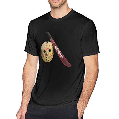 Houxiaojun The Many Moods of Jason Voorhees Mask Men's Classic Tshirt Black S -
