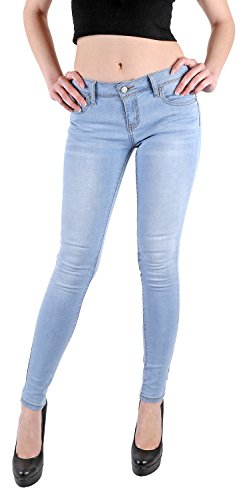 - Wax Women's Juniors Basic Stretchy Fit Skinny Jeans (5, Light),Light Denim