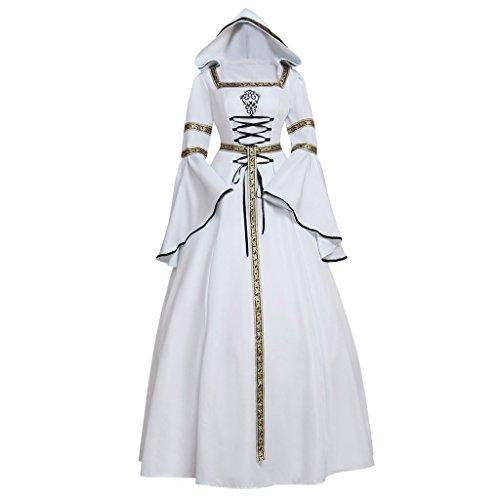 CosplayDiy Women's Medieval Victorian Renaissance Wedding Dress Costume CM by CosplayDiy