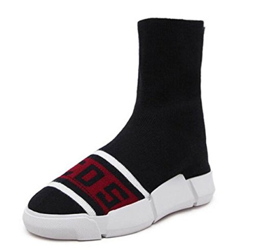 Shoes Boots Boots States New United Knitting Socks Shoes The Leisure Black Elastic The Flat Women's Europe And gfg6v