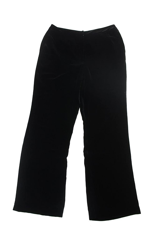 Inc International Concepts Black Straight-Leg Velour Pants