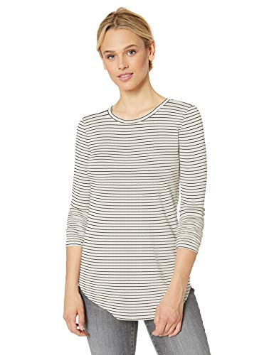 Daily Ritual Supersoft Terry Long-sleeve Shirt With Shirttail Hem Vrouwen Shirt