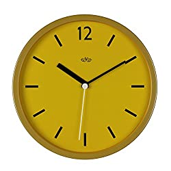 Wild Wood Vintage Wall Clock, English Mustard (Yellow)