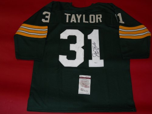 JIM TAYLOR AUTOGRAPHED GREEN BAY PACKERS JERSEY JSA ()