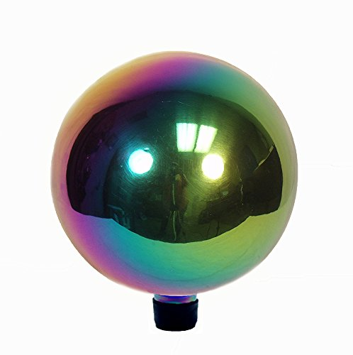 Echo Valley 8106 10-Inch Glass Gazing Globe, Arco Iris