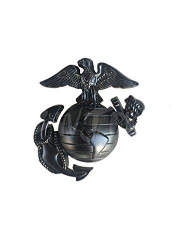 ZWJPW US Marine Corps Cap Badge Pin Insignia With Lapel Pin USMC Badge Black