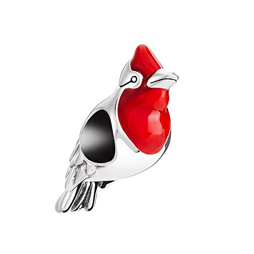 Pugster Bird - Chamilia Red Robin Bead Charm