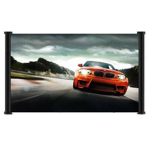 BMW 1M Exotic Sports Car Fabric Wall Scroll Poster  Inches