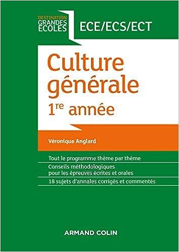 En ligne Culture générale 1re année ECE/ECS/ECT pdf epub