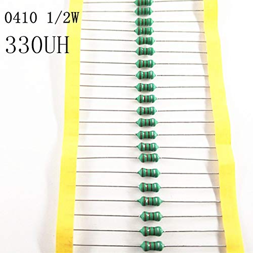 Maslin 50pcs//lot 1//2W Chromatic Ring Inductor DIP 0410 330UH AL0410-331K 0.5W inductance