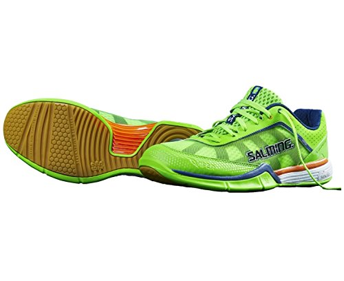 Salming Viper Mens Court Shoes, Color- Green, Shoe Size- 7.5 UK