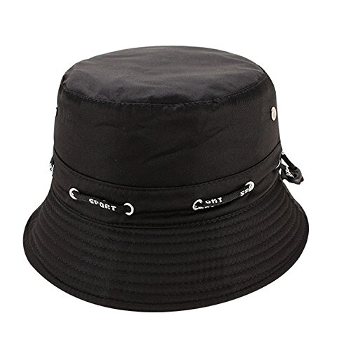 Quaanti Outdoor Unisex Boonie Sun Hat丨Cool Breathable 100% Cotton Bucket Summer Sun Cap for Men & Women丨for Fishing,Hiking,Camping,Boating & Outdoor Adventures.Breathable (Black)