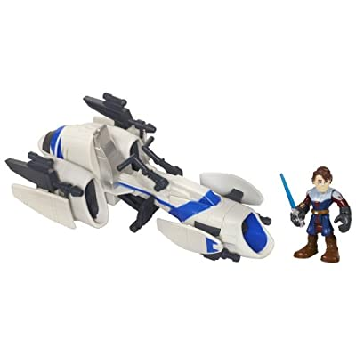 Star Wars Jedi Force Playskool Heroes Barc Speeder Bike with Anakin Skywalker Set