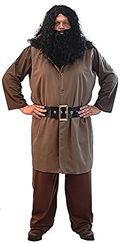 Fancy Dress-World Book Day-Halloween-Magic-Wizard School Men's HAGRID GIANT - From Sizes Small-4XL -