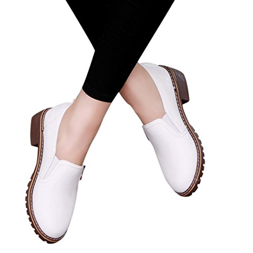 Todaies Women Shoes Fashion AnkleFlat Oxford Leather Casual Shoes Ladies Short Boots (US:7, ()