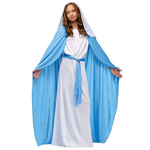 [Girls Deluxe Virgin Mary Costume Large] (Girls Virgin Mary Costume)