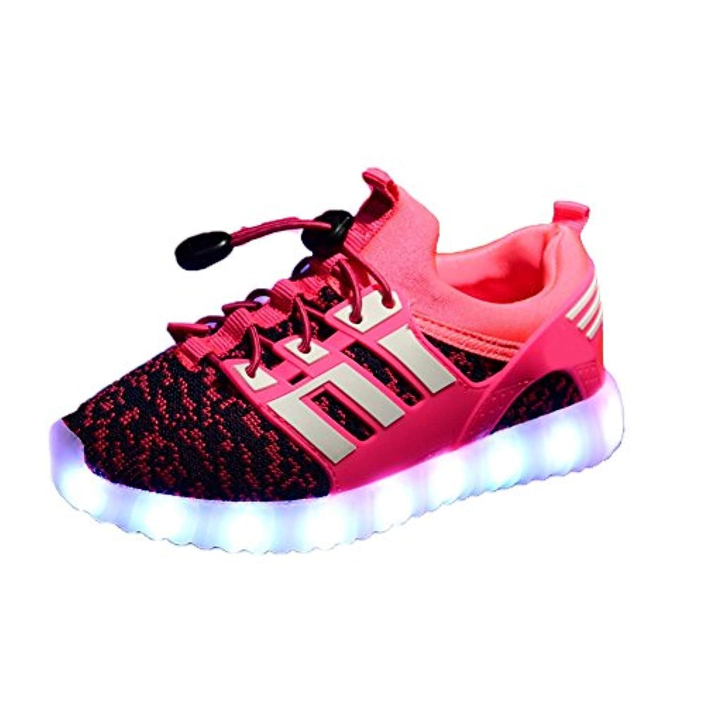 LKOUS® LED Light Up Shoes Fashion Sneaker Gym Shoes for Men Women Kids Boys Girls Slip-on,4 Colors