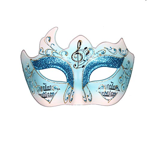 XL Masks- Halloween Mask Masquerade Lady Party Mask Half Face Princess Venice Song and Dance Party (Color : Blue)
