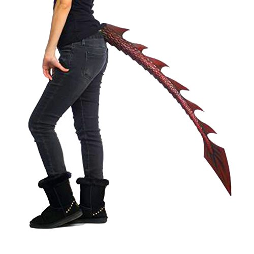 Red Dragon Tail Devil Adult Halloween Costume Accessory -