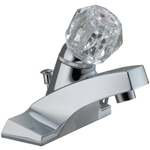 (Peerless P35LF Classic Single Handle Centerset Bathroom Faucet, Chrome)