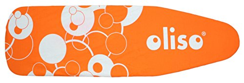 Oliso Standard Size Ironing Board Cover, 100% Cotton, 54 Inch by 15 Inch, Orange (Oliso Pink Iron)